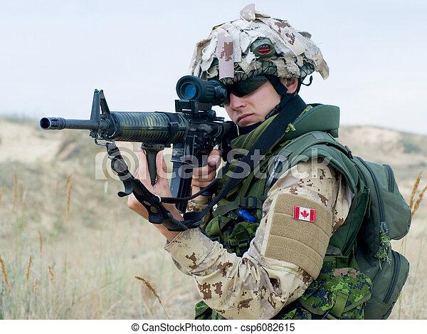 canadian soldier - csp6082615