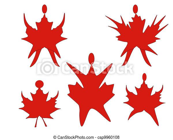 canadien, feuille, érable, danse - csp9960108