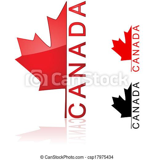 canadien, icône - csp17975434