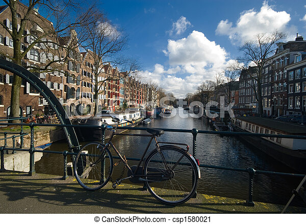 canal in amsterdam - csp1580021