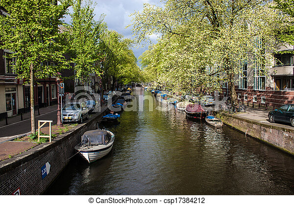 Canal in Amsterdam - csp17384212