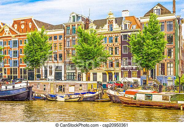 Canal in Amsterdam - csp20950361