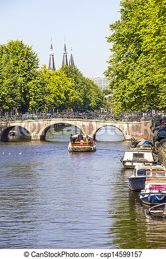 Canal in Amsterdam - csp14599157