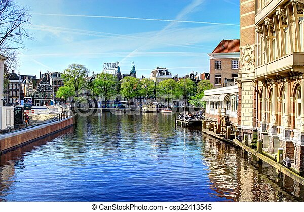 canal in Amsterdam - csp22413545
