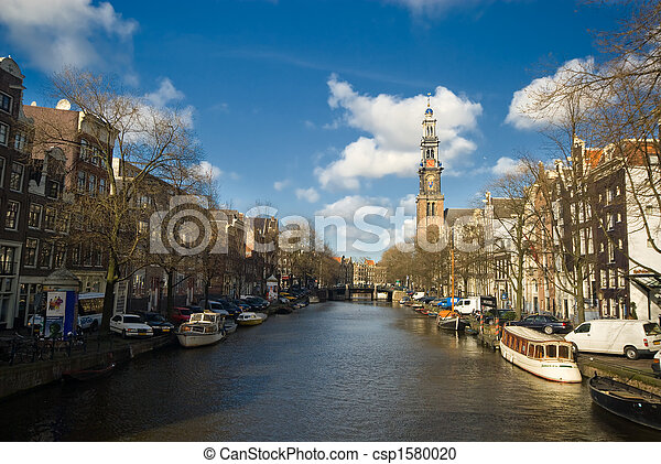 canal in amsterdam - csp1580020
