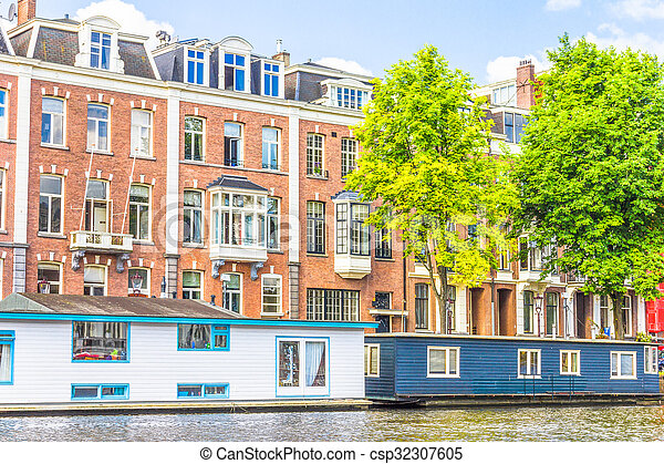 Canal in Amsterdam - csp32307605