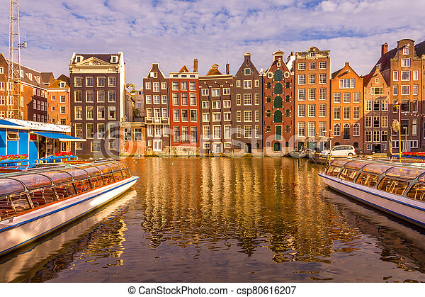 Canal in Amsterdam - csp80616207