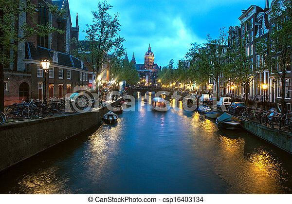 Canal in Amsterdam - csp16403134