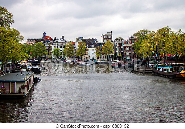 Canal in Amsterdam - csp16803132