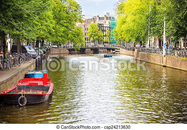 Canal in Amsterdam - csp24213630