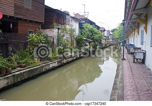 Canal in Bangkok, Thailand - csp17347240