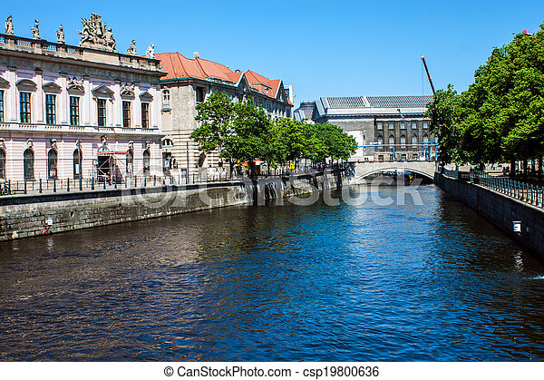 Canal in Berlin, Germany - csp19800636