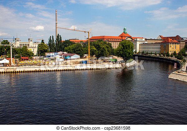 Canal in Berlin - csp23681598