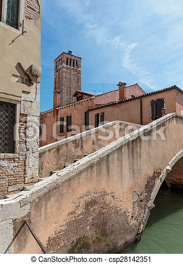 Canal in Venice Italy - csp28142351