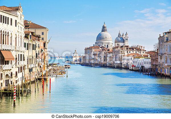 Venecia, Italia, gran canal - csp19009706