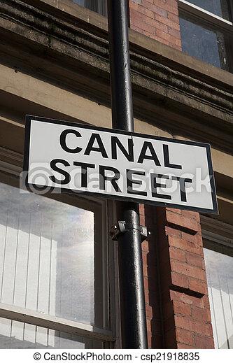 Canal Street Sign, Manchester - csp21918835