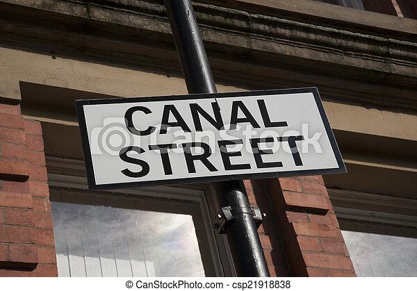 Canal Street Sign, Manchester - csp21918838