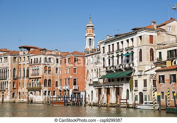 Vista del gran canal en Venecia - csp9299387