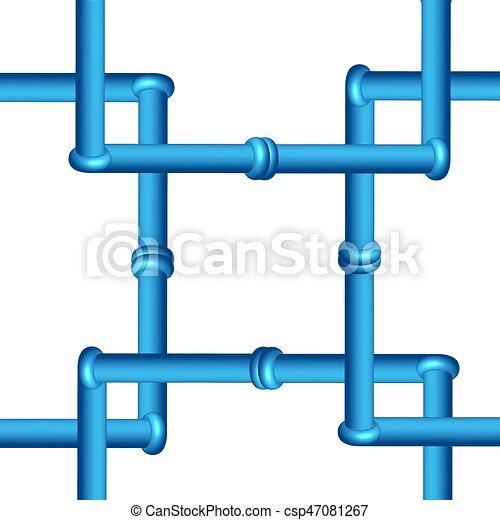 canalização, industrial, isolado, fundo, tools., branca, 3d - csp47081267