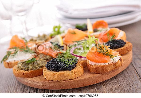 canape, buffet food - csp19766258