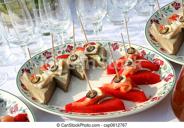 canape on the Fourchette table - csp0612767