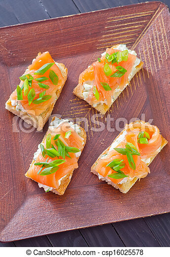 canape with salmon - csp16025578