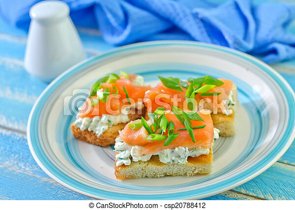 canape with salmon - csp20788412