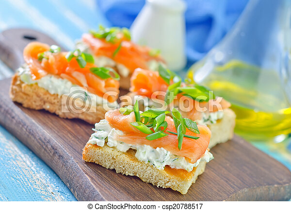 canape with salmon - csp20788517