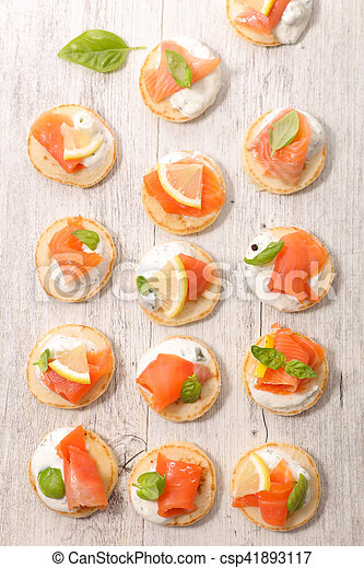 canape with salmon - csp41893117
