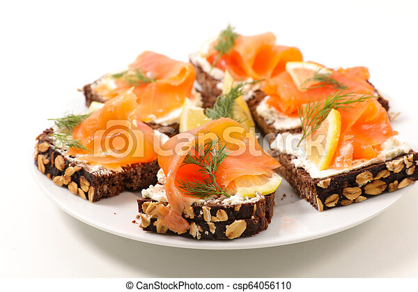 canape with salmon - csp64056110