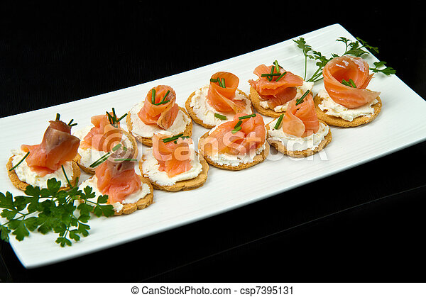 Canape with Salmon - csp7395131