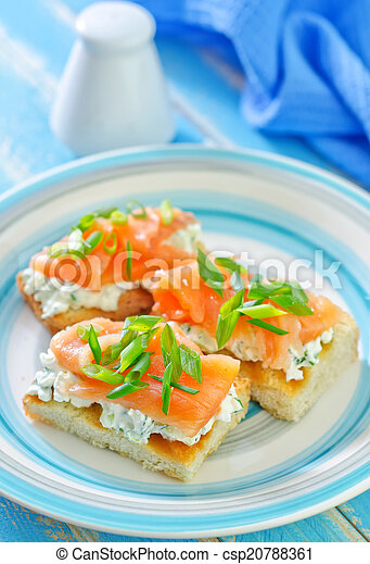 canape with salmon - csp20788361