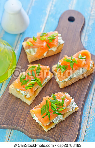 canape with salmon - csp20788463