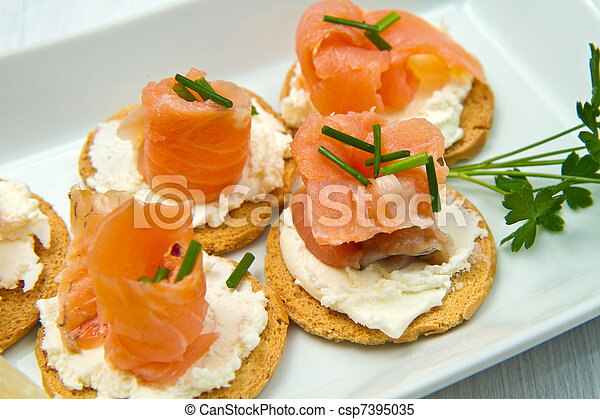 Canape with Salmon - csp7395035
