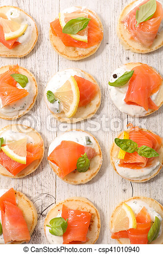 canape with salmon - csp41010940