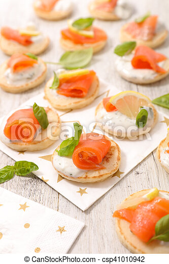 canape with salmon - csp41010942