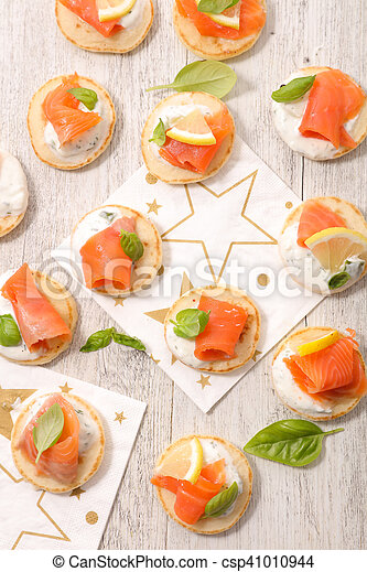 canape with salmon - csp41010944