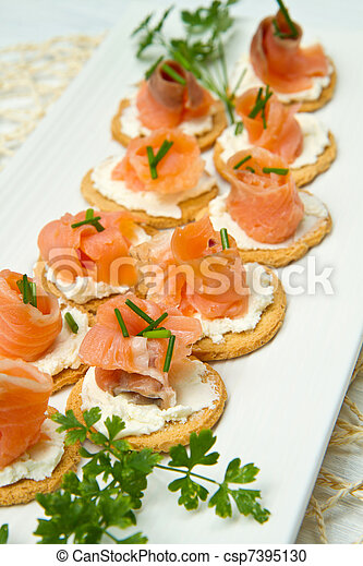 Canape with Salmon - csp7395130