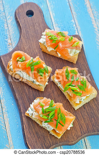canape with salmon - csp20788536