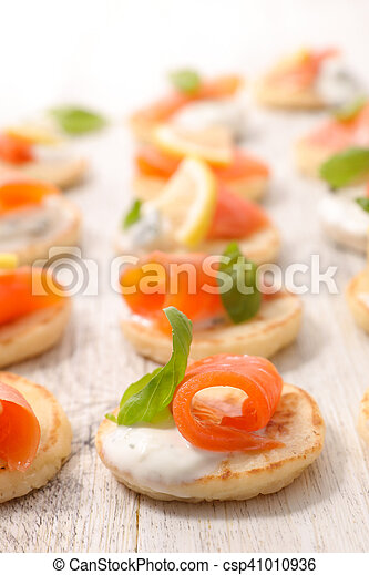 canape with salmon - csp41010936