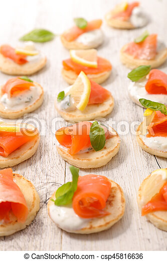 canape with salmon - csp45816636
