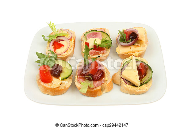Canapes on a plate - csp29442147