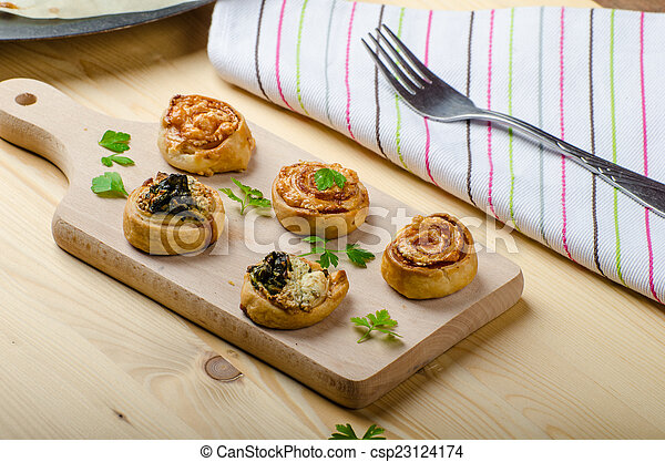 Canap?s puff pastry - csp23124174
