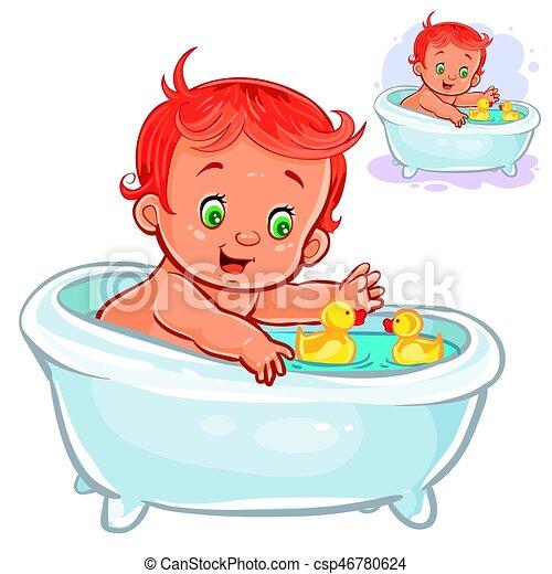 Canard bain caoutchouc prendre enfant petit c - Illustration canard ...