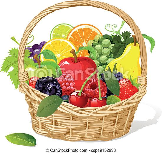 Cesta de frutas - csp19152938