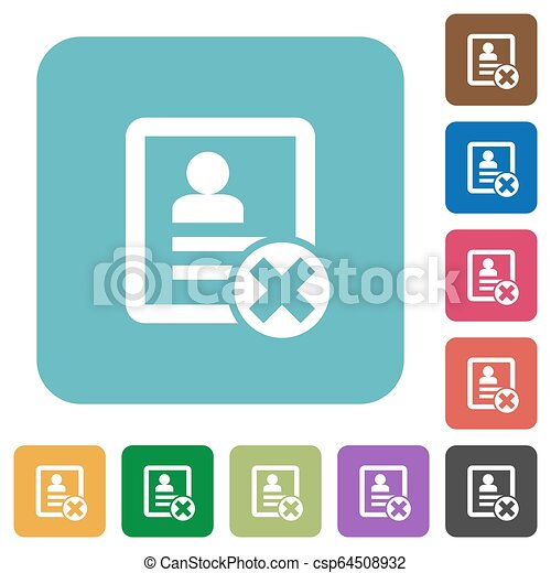 Cancel contact rounded square flat icons - csp64508932