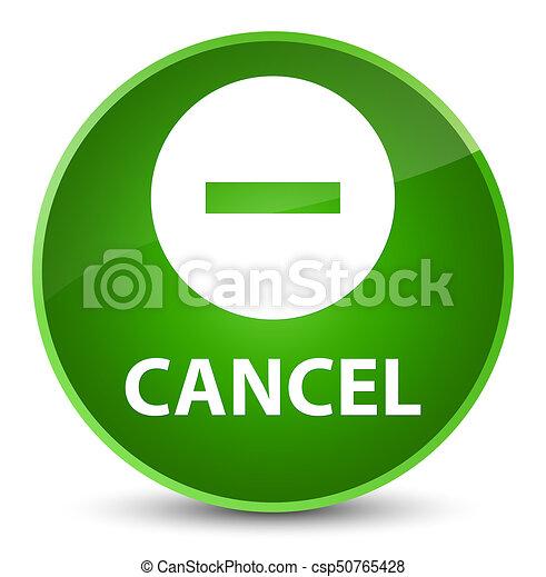 Cancel elegant green round button - csp50765428