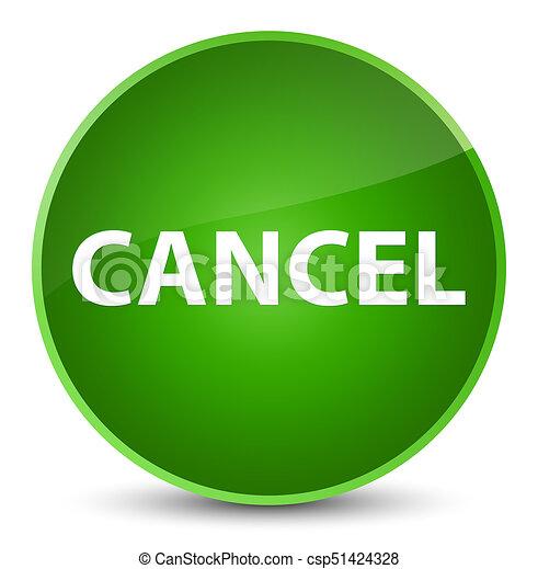 Cancel elegant green round button - csp51424328