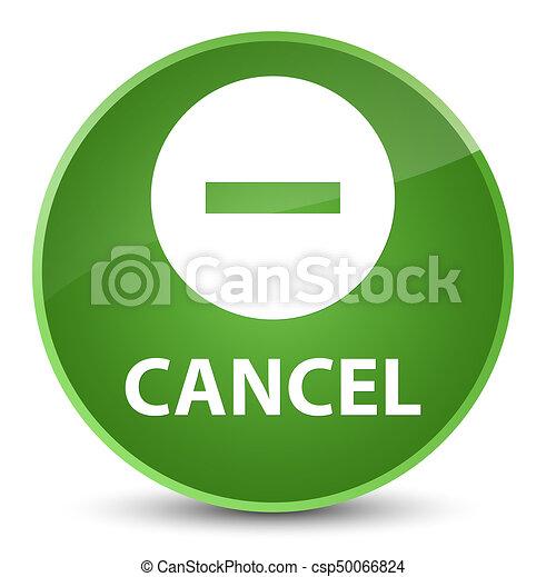 Cancel elegant soft green round button - csp50066824