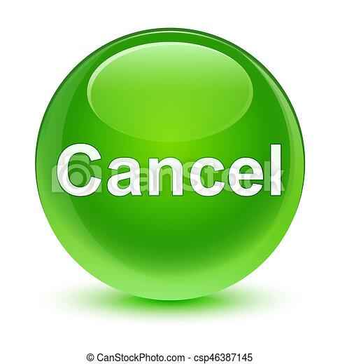 Cancel glassy green round button - csp46387145